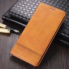 Coque Portefeuille Livre Cuir Etui Clapet K03 pour Huawei Mate 40 Pro Brun Clair