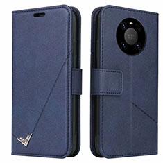 Coque Portefeuille Livre Cuir Etui Clapet K06 pour Huawei Mate 40 Pro Bleu