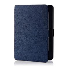 Coque Portefeuille Livre Cuir Etui Clapet L01 pour Amazon Kindle 6 inch Bleu
