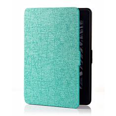 Coque Portefeuille Livre Cuir Etui Clapet L01 pour Amazon Kindle 6 inch Cyan