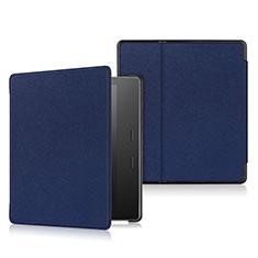 Coque Portefeuille Livre Cuir Etui Clapet L01 pour Amazon Kindle Oasis 7 inch Bleu