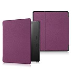 Coque Portefeuille Livre Cuir Etui Clapet L01 pour Amazon Kindle Oasis 7 inch Violet