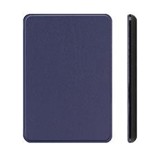 Coque Portefeuille Livre Cuir Etui Clapet L01 pour Amazon Kindle Paperwhite 6 inch Bleu