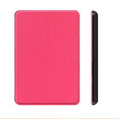 Coque Portefeuille Livre Cuir Etui Clapet L01 pour Amazon Kindle Paperwhite 6 inch Rose Rouge