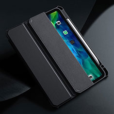Coque Portefeuille Livre Cuir Etui Clapet L01 pour Apple iPad Air 4 10.9 (2020) Noir