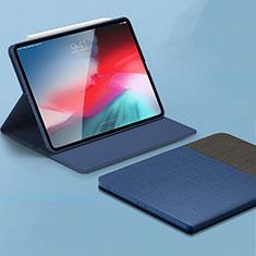 Coque Portefeuille Livre Cuir Etui Clapet L01 pour Apple iPad Pro 11 (2018) Bleu