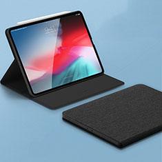 Coque Portefeuille Livre Cuir Etui Clapet L01 pour Apple iPad Pro 11 (2018) Noir