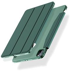 Coque Portefeuille Livre Cuir Etui Clapet L01 pour Apple iPad Pro 11 (2020) Vert