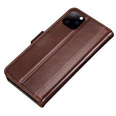 Coque Portefeuille Livre Cuir Etui Clapet L01 pour Apple iPhone 11 Pro Max Marron