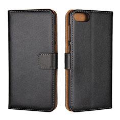 Coque Portefeuille Livre Cuir Etui Clapet L01 pour Asus Zenfone 4 Max ZC554KL Noir