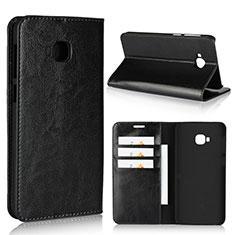 Coque Portefeuille Livre Cuir Etui Clapet L01 pour Asus Zenfone 4 Selfie Pro Noir