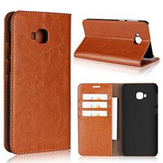 Coque Portefeuille Livre Cuir Etui Clapet L01 pour Asus Zenfone 4 Selfie Pro Orange