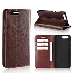 Coque Portefeuille Livre Cuir Etui Clapet L01 pour Asus Zenfone 4 ZE554KL Marron