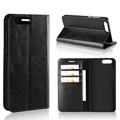 Coque Portefeuille Livre Cuir Etui Clapet L01 pour Asus Zenfone 4 ZE554KL Noir