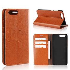 Coque Portefeuille Livre Cuir Etui Clapet L01 pour Asus Zenfone 4 ZE554KL Orange