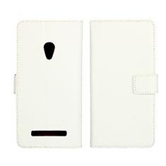 Coque Portefeuille Livre Cuir Etui Clapet L01 pour Asus Zenfone 5 Blanc