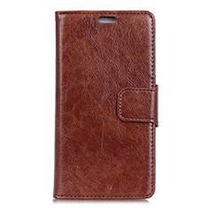 Coque Portefeuille Livre Cuir Etui Clapet L01 pour Asus Zenfone 5 Lite ZC600KL Marron