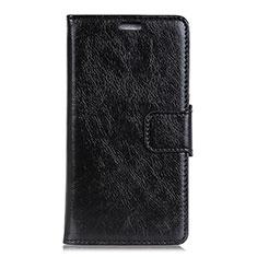 Coque Portefeuille Livre Cuir Etui Clapet L01 pour Asus Zenfone 5 Lite ZC600KL Noir