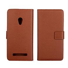 Coque Portefeuille Livre Cuir Etui Clapet L01 pour Asus Zenfone 5 Marron