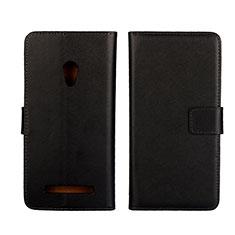 Coque Portefeuille Livre Cuir Etui Clapet L01 pour Asus Zenfone 5 Noir