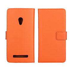 Coque Portefeuille Livre Cuir Etui Clapet L01 pour Asus Zenfone 5 Orange