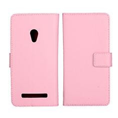 Coque Portefeuille Livre Cuir Etui Clapet L01 pour Asus Zenfone 5 Rose