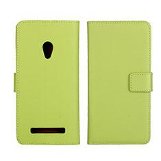 Coque Portefeuille Livre Cuir Etui Clapet L01 pour Asus Zenfone 5 Vert