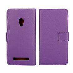 Coque Portefeuille Livre Cuir Etui Clapet L01 pour Asus Zenfone 5 Violet