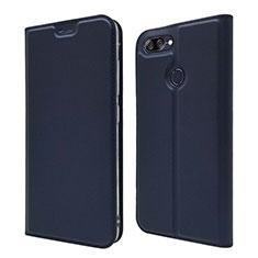 Coque Portefeuille Livre Cuir Etui Clapet L01 pour Asus Zenfone Max Plus M1 ZB570TL Bleu
