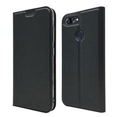 Coque Portefeuille Livre Cuir Etui Clapet L01 pour Asus Zenfone Max Plus M1 ZB570TL Noir