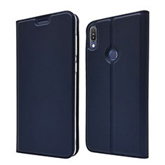 Coque Portefeuille Livre Cuir Etui Clapet L01 pour Asus Zenfone Max Pro M1 ZB601KL Bleu
