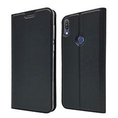 Coque Portefeuille Livre Cuir Etui Clapet L01 pour Asus Zenfone Max Pro M1 ZB601KL Noir