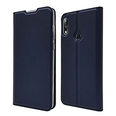 Coque Portefeuille Livre Cuir Etui Clapet L01 pour Asus Zenfone Max Pro M2 ZB631KL Bleu