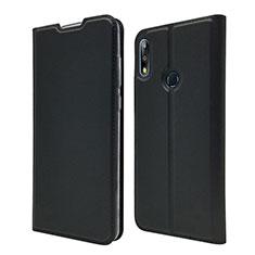 Coque Portefeuille Livre Cuir Etui Clapet L01 pour Asus Zenfone Max Pro M2 ZB631KL Noir