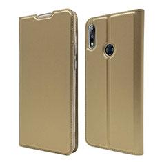 Coque Portefeuille Livre Cuir Etui Clapet L01 pour Asus Zenfone Max Pro M2 ZB631KL Or
