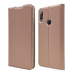 Coque Portefeuille Livre Cuir Etui Clapet L01 pour Asus Zenfone Max Pro M2 ZB631KL Or Rose
