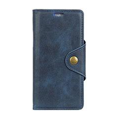 Coque Portefeuille Livre Cuir Etui Clapet L01 pour Asus Zenfone Max ZB555KL Bleu