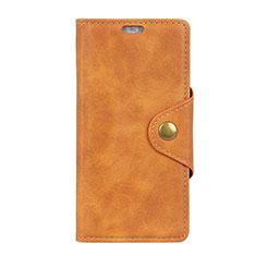 Coque Portefeuille Livre Cuir Etui Clapet L01 pour Asus Zenfone Max ZB555KL Orange