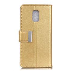 Coque Portefeuille Livre Cuir Etui Clapet L01 pour Asus ZenFone V Live Or
