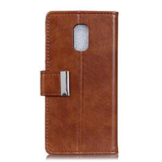Coque Portefeuille Livre Cuir Etui Clapet L01 pour Asus ZenFone V500KL Marron