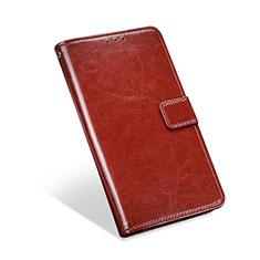Coque Portefeuille Livre Cuir Etui Clapet L01 pour Blackberry KEYone Marron