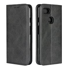 Coque Portefeuille Livre Cuir Etui Clapet L01 pour Google Pixel 3 Noir