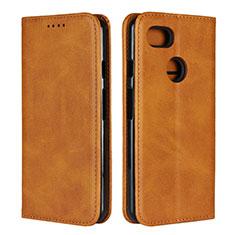Coque Portefeuille Livre Cuir Etui Clapet L01 pour Google Pixel 3 Orange