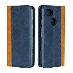 Coque Portefeuille Livre Cuir Etui Clapet L01 pour Google Pixel 3 XL Bleu