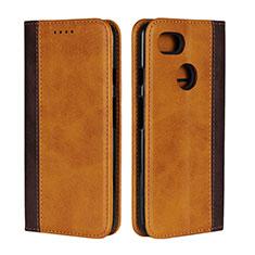 Coque Portefeuille Livre Cuir Etui Clapet L01 pour Google Pixel 3 XL Orange