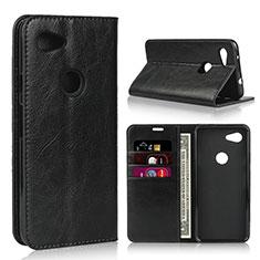 Coque Portefeuille Livre Cuir Etui Clapet L01 pour Google Pixel 3a XL Noir