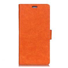 Coque Portefeuille Livre Cuir Etui Clapet L01 pour HTC U11 Eyes Orange