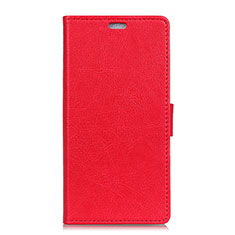 Coque Portefeuille Livre Cuir Etui Clapet L01 pour HTC U11 Eyes Rouge