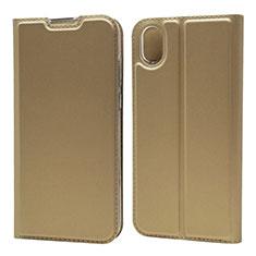 Coque Portefeuille Livre Cuir Etui Clapet L01 pour Huawei Enjoy 8S Or