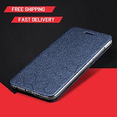 Coque Portefeuille Livre Cuir Etui Clapet L01 pour Huawei Enjoy 9 Plus Bleu